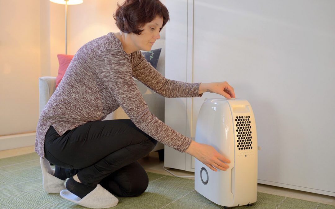 reduce humidity in the home with a dehumidifer